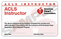 ACLS Instructor Renewal Card