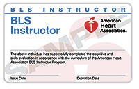 BLS Instructor Renewal Card