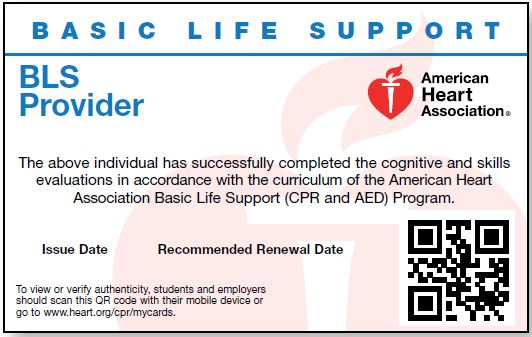 BLS Provider<br>Course New Card