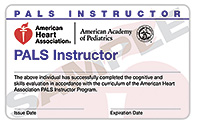 PALS Instructor Renewal Card